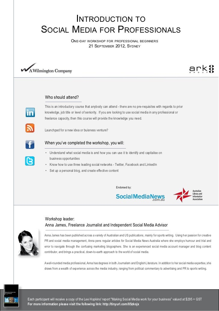 Introduction to                                                 Social Media for Professionals                            ...