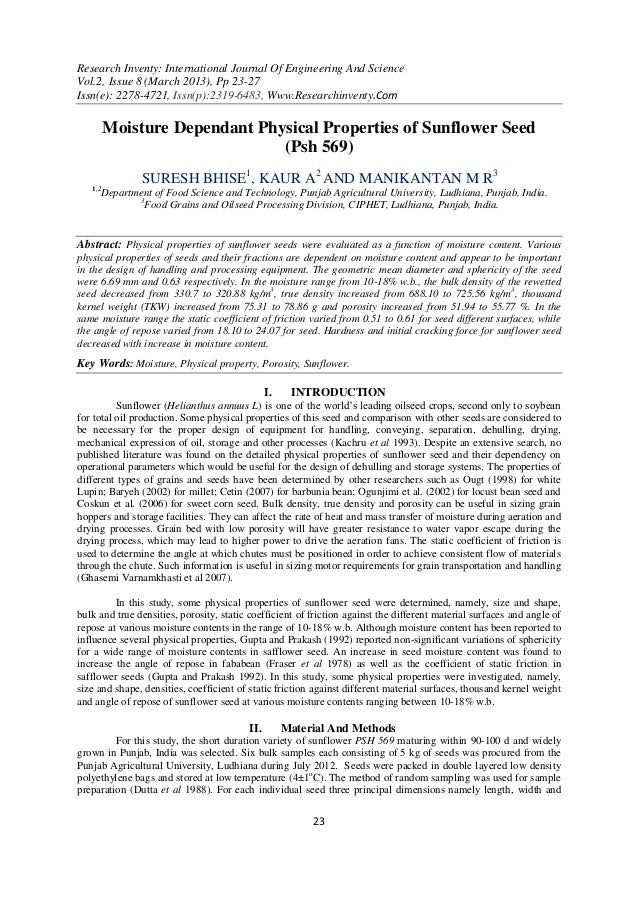 Research Inventy: International Journal Of Engineering And ScienceVol.2, Issue 8 (March 2013), Pp 23-27Issn(e): 2278-4721,...