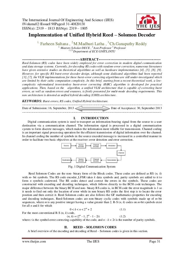 The International Journal Of Engineering And Science (IJES)   Volume  2   Issue   9  Pages   31-40  2013   ISSN(e): 2319 –...