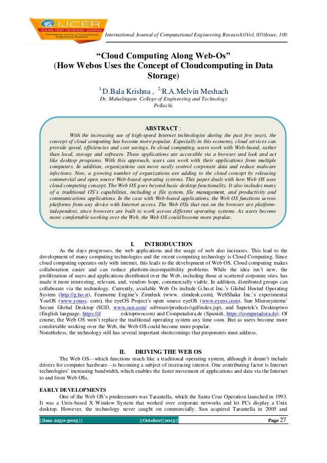 """International Journal of Computational Engineering Research