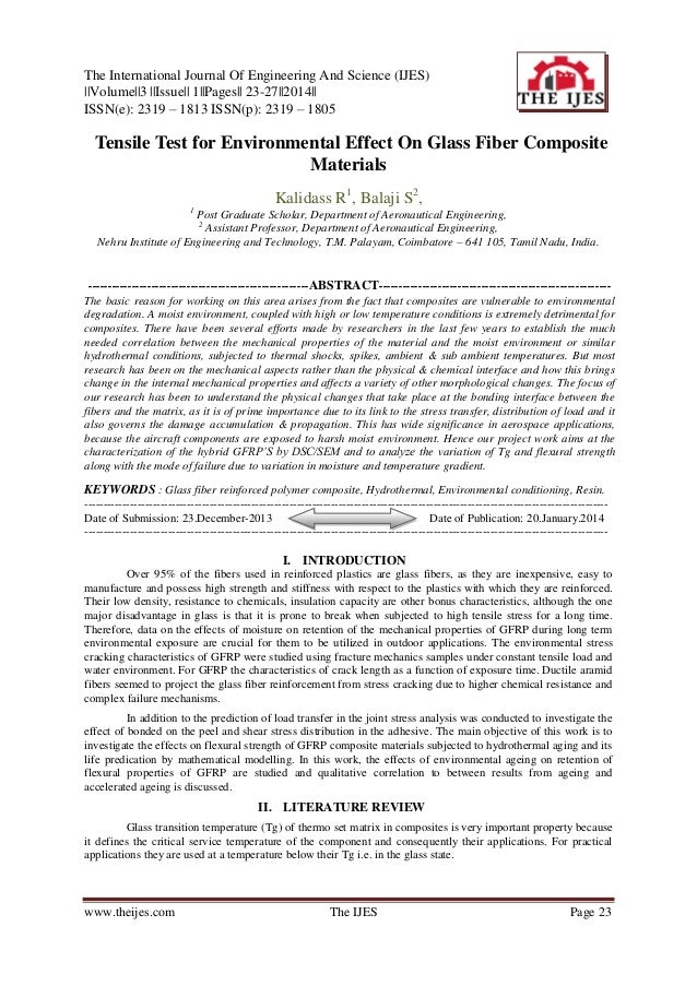 The International Journal Of Engineering And Science (IJES) ||Volume||3 ||Issue|| 1||Pages|| 23-27||2014|| ISSN(e): 2319 –...