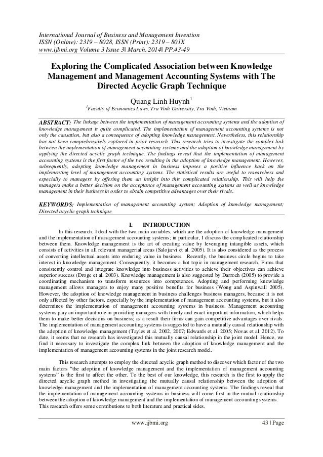 International Journal of Business and Management Invention ISSN (Online): 2319 – 8028, ISSN (Print): 2319 – 801X www.ijbmi...