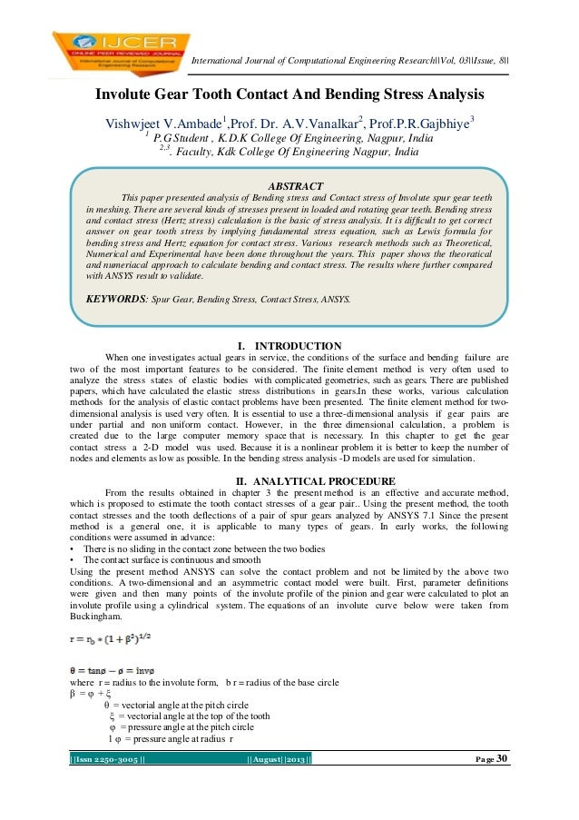 International Journal of Computational Engineering Research||Vol, 03||Issue, 8|| ||Issn 2250-3005 || ||August||2013|| Page...