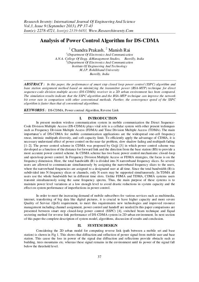 Research Inventy: International Journal Of Engineering And Science Vol.3, Issue 9 (September 2013), PP 37-43 Issn(e): 2278...