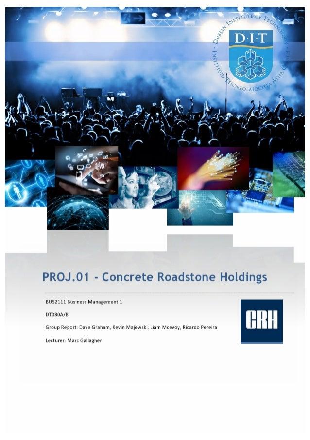 BUS2111 - PROJ.01 - Business Management - CRH