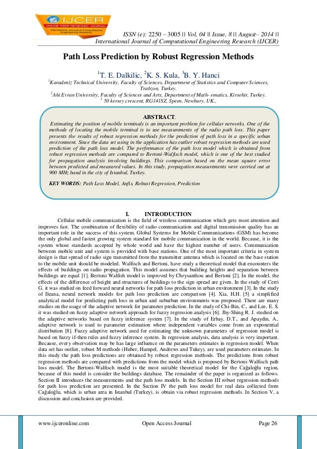 ISSN (e): 2250 – 3005 || Vol, 04 || Issue, 8 || August– 2014 ||  International Journal of Computational Engineering Resear...
