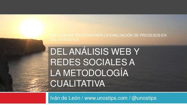 Introducción a la analítica web - Menorca 2013