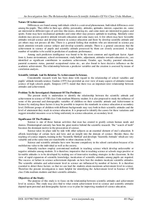 Masters thesis paper minority attitude research
