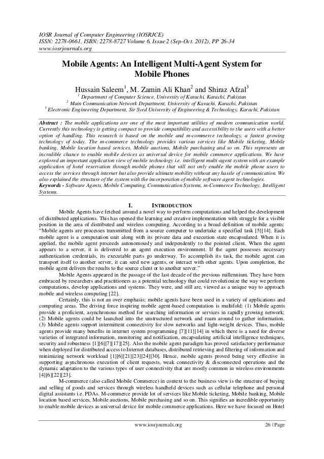 IOSR Journal of Computer Engineering (IOSRJCE) ISSN: 2278-0661, ISBN: 2278-8727 Volume 6, Issue 2 (Sep-Oct. 2012), PP 26-3...
