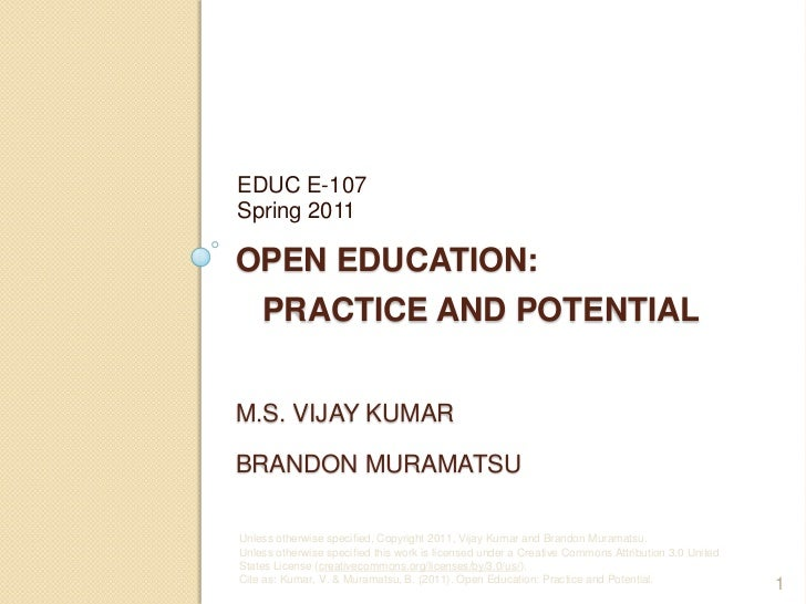 E107 Open Education Practice and Potential: Session 5