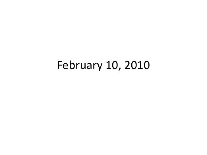 E10 Feb10 2010