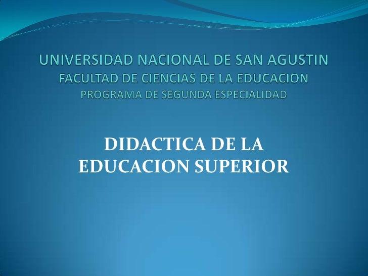 E13 02 didáctica de la educación superior cap1