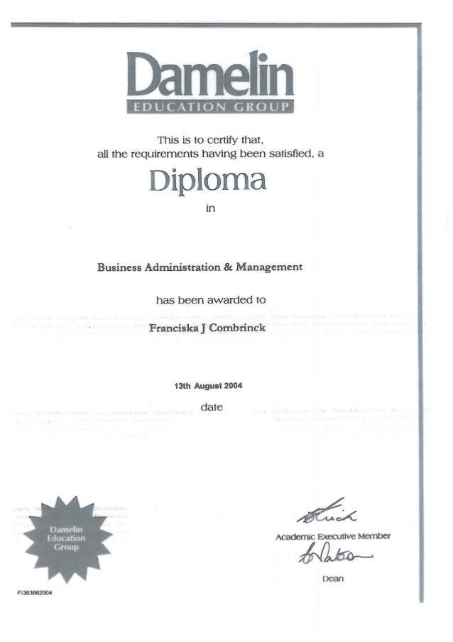 Dipl Business Management