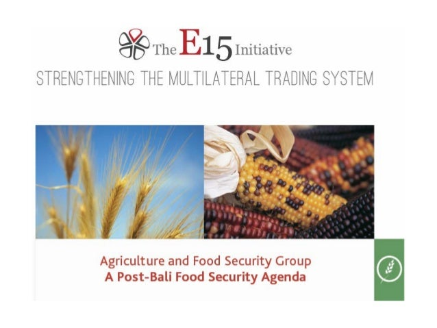 E15 Initiative: Strengthening the multilateral trading system