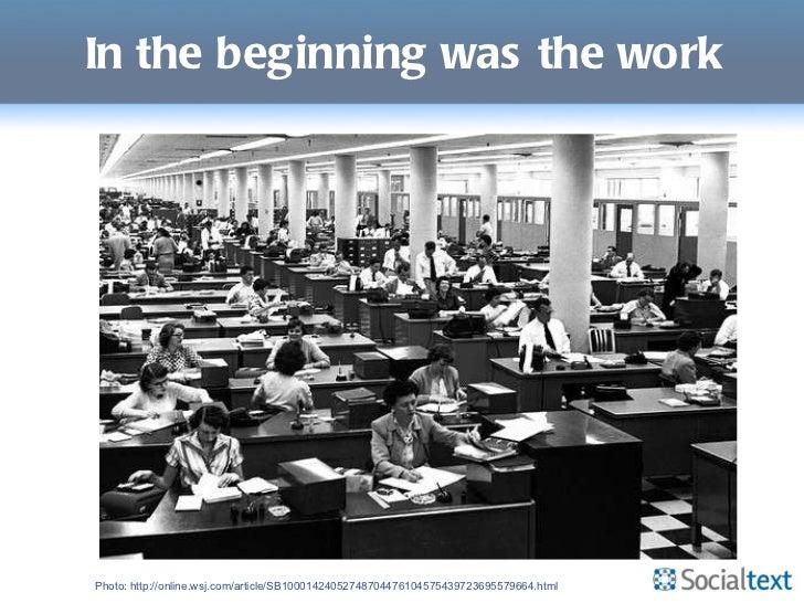 Social in the Flow of Work, Enterprise 2.0 Santa Clara, 2011