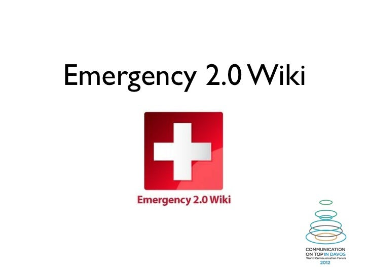 Emergency 2.0 Wiki at Davos Conference