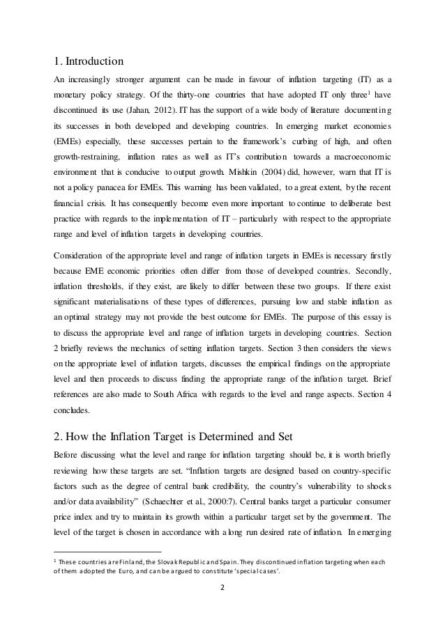 essays on inflation targeting Inflation targeting this research paper inflation targeting and other 64,000+ term papers, college essay examples and free essays are available now on reviewessayscom autor: review • march 20, 2011 • research paper • 1,838 words (8 pages) • 1,232 views.