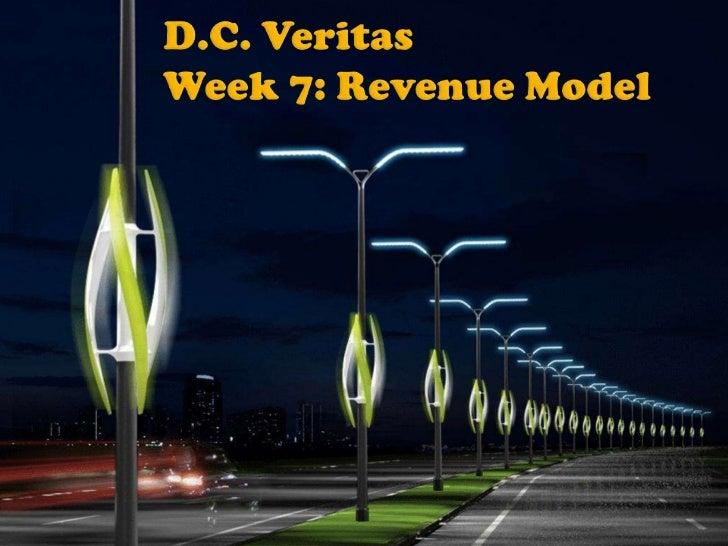 D.C. VeritasWeek 7: Revenue Model<br />