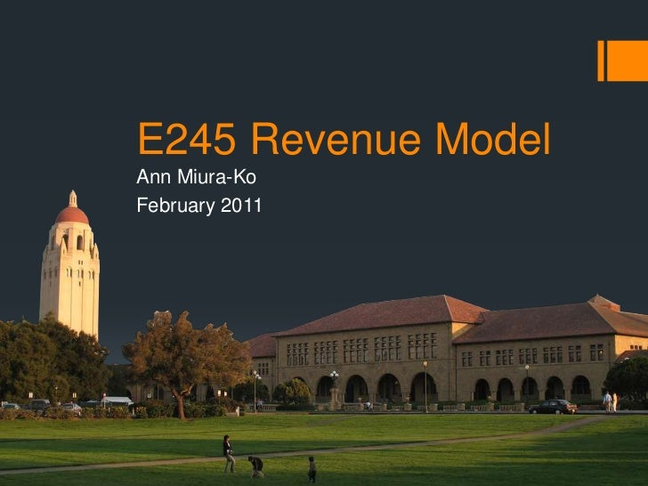 Engr 245 Session 06  revenues