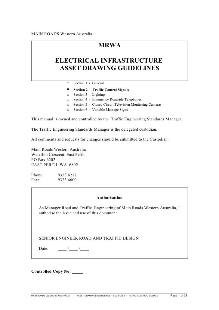 MAIN ROADS Western Australia                                                  MRWA                 ELECTRICAL INFRASTRUCTU...