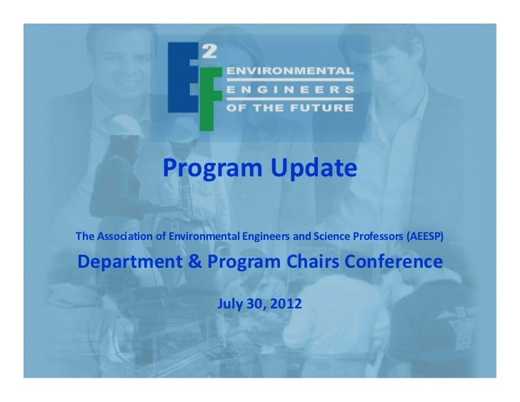 E2F Update AEESP Conference July 2012