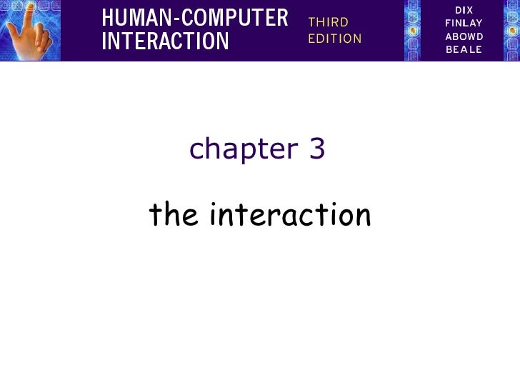 chapter 3the interaction