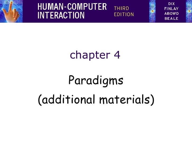 chapter 4 Paradigms (additional materials)
