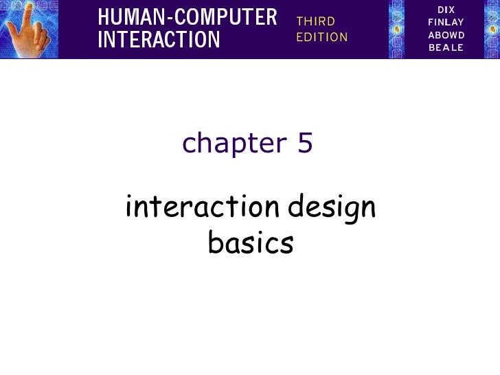 chapter 5 interaction design basics