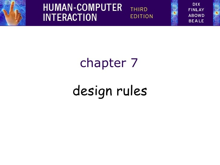 chapter 7design rules
