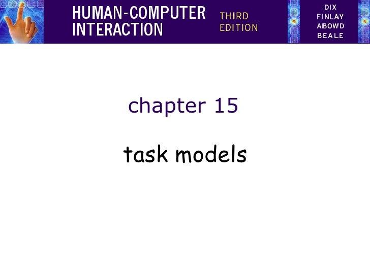 chapter 15 task models