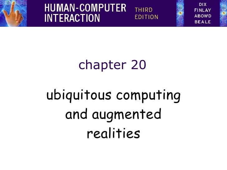 chapter 20 ubiquitous computing and augmented realities