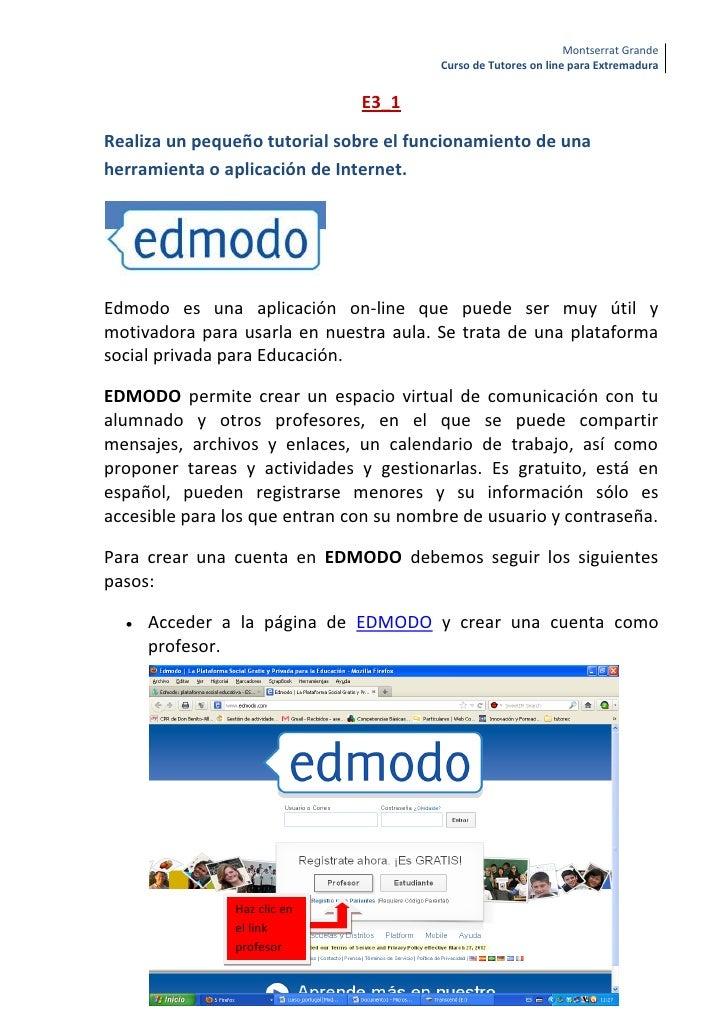 Montserrat Grande                                         Curso de Tutores on line para Extremadura                       ...