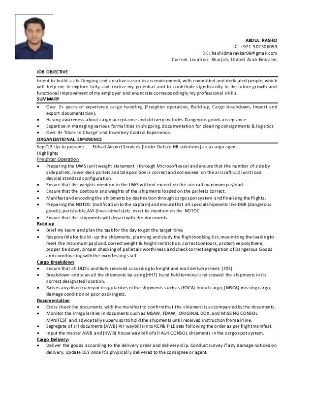 warehouse assistant resume sample