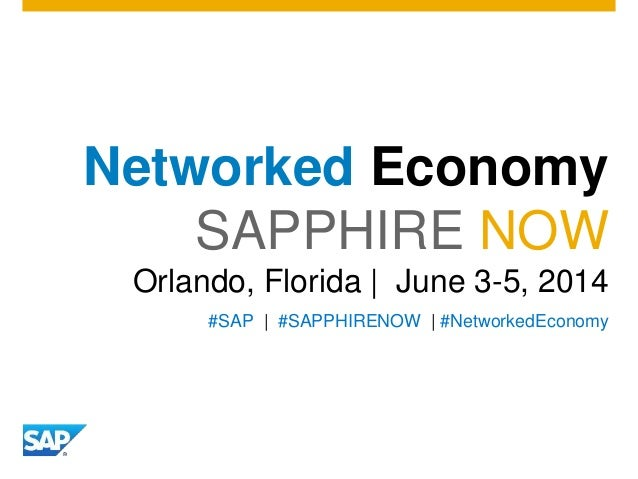 The Networked Economy at SAPPHIRENOW