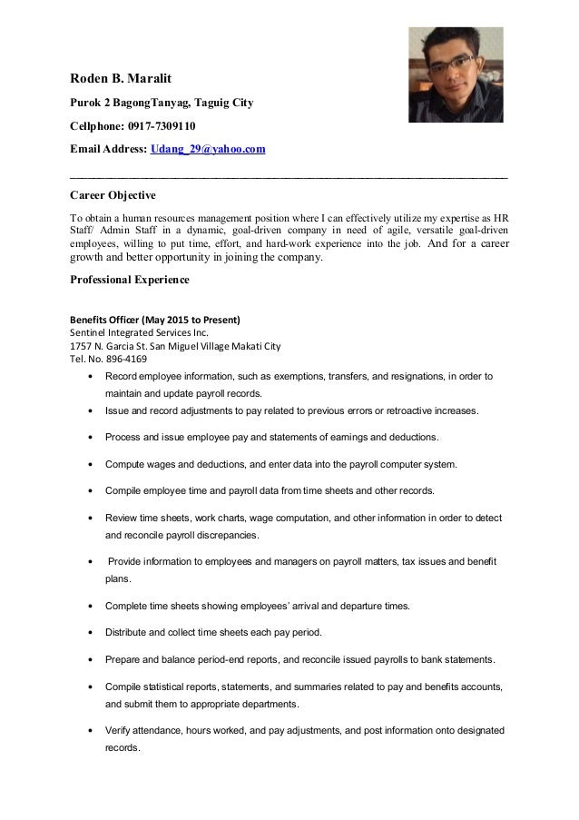 How to update resume