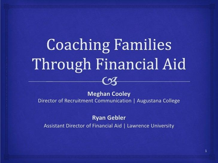 E38 Coaching Families Through Financial Aid