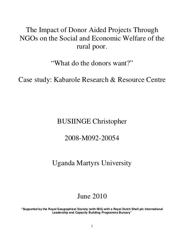 Problem statement for dissertationThe nature and extent of problems experienced by local hiv/aids ngos?