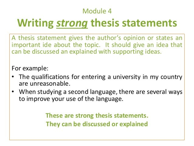 Help Forming Thesis Statement