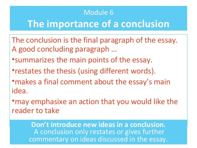concluding paragraph english essay This resource covers writing a detailed conclusion for your ged essay the paragraph below is an example conclusion please visit these purdue owl resources.