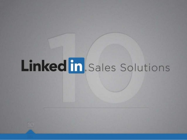 10 Tips to help you maximize your LinkedIn sales profile.