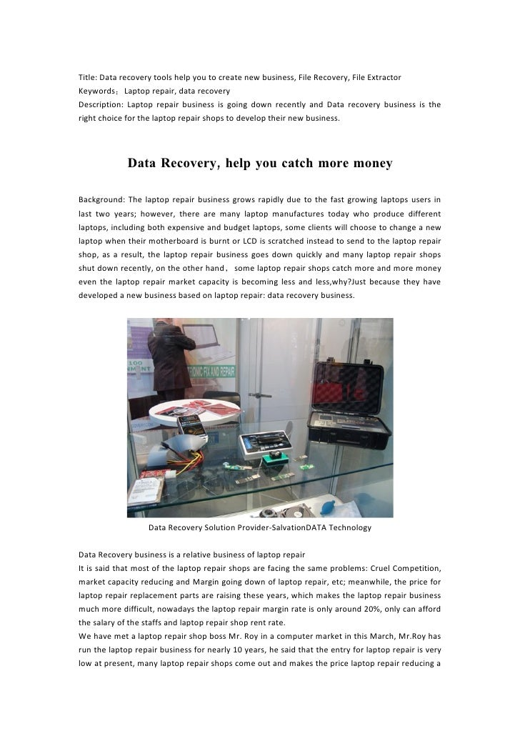 A Project For Laptop Repair Shop To Earn More——English