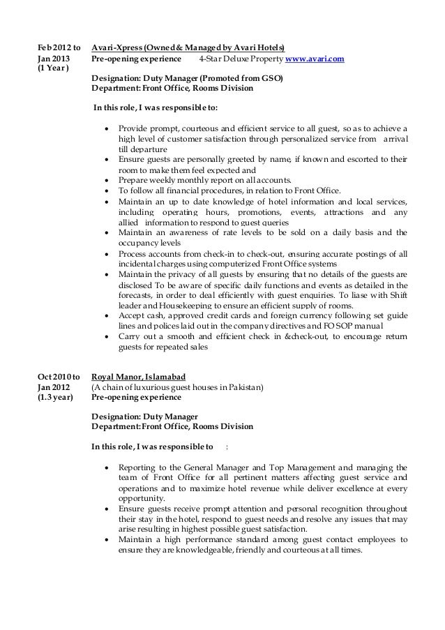 division manager resume