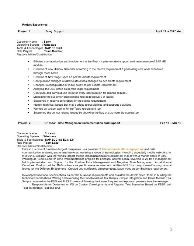 sap hr end user resume sap hr time management user guide www