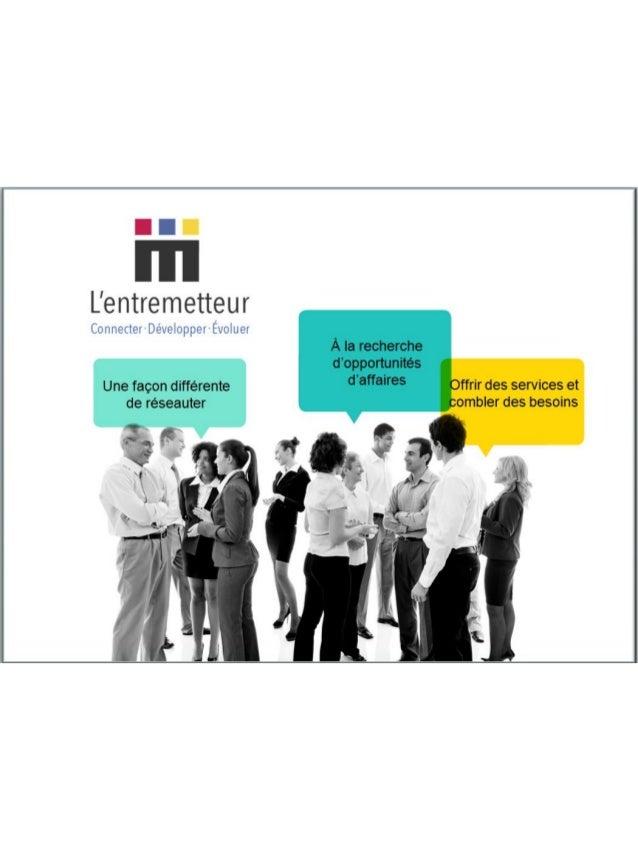 Brochure corporative L'Entremetteur