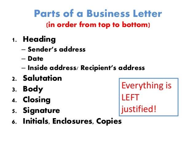 Business Letter Cc Enclosure Order