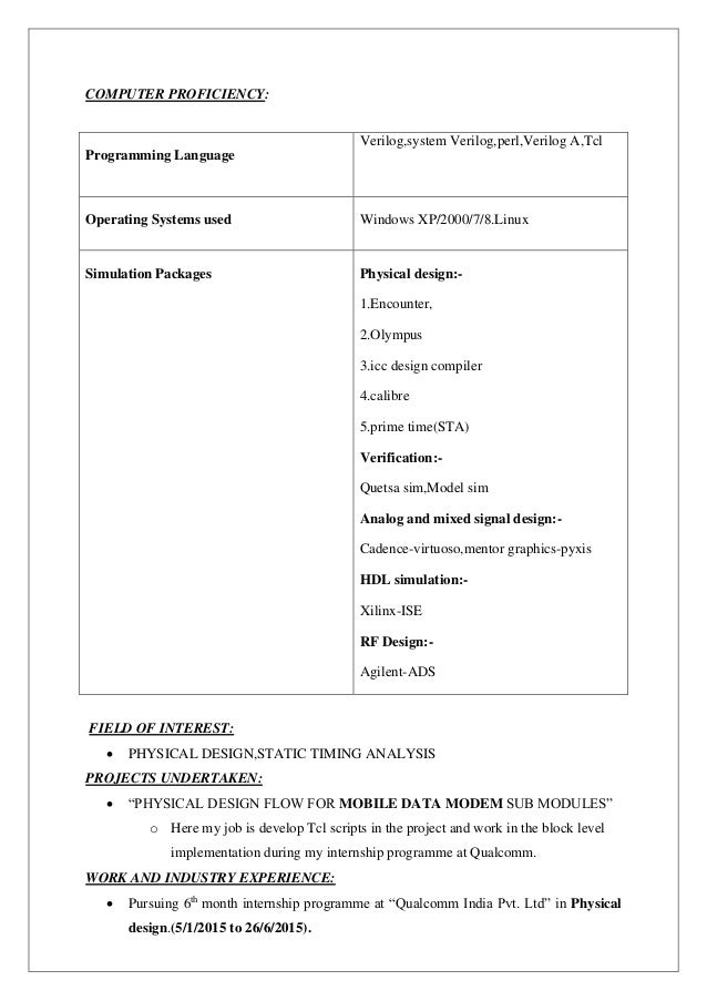 Course Projects On Resume