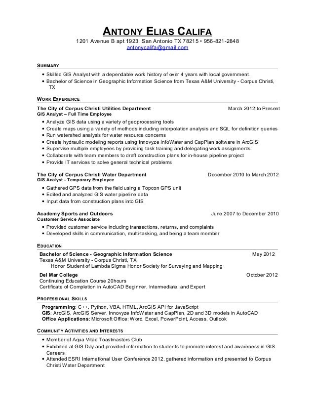 gis analyst resume us unique resume exles office