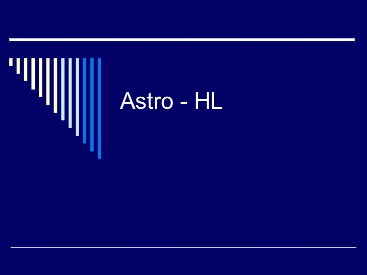 Astrophysics HL