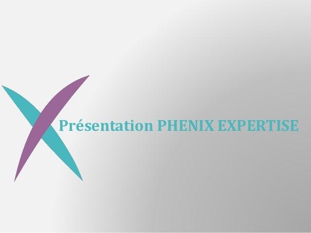 Présentation PHENIX EXPERTISE