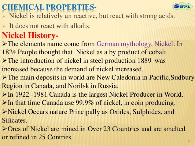physical and chemical properties of nickel pdf